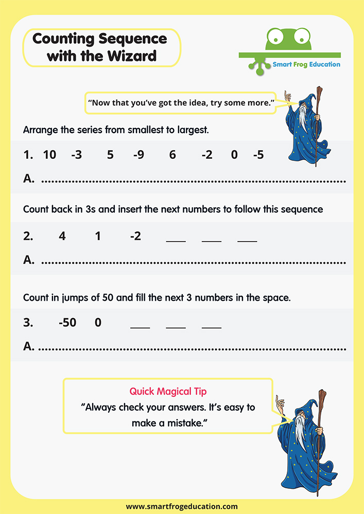 Counting Sequence with the Wizard   Smart Frog